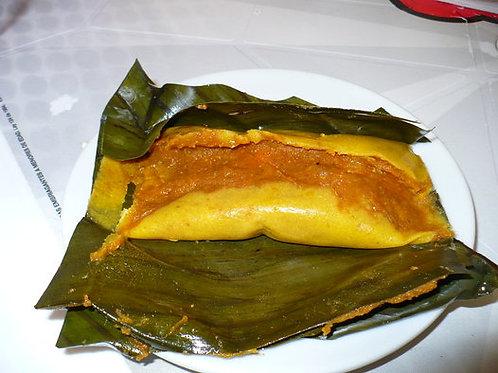 Tamales with banana leaves Min. 1 Dozen