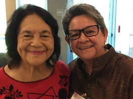 In the presence of an inspiration and shero, Dolores Huerta, Si se Puede