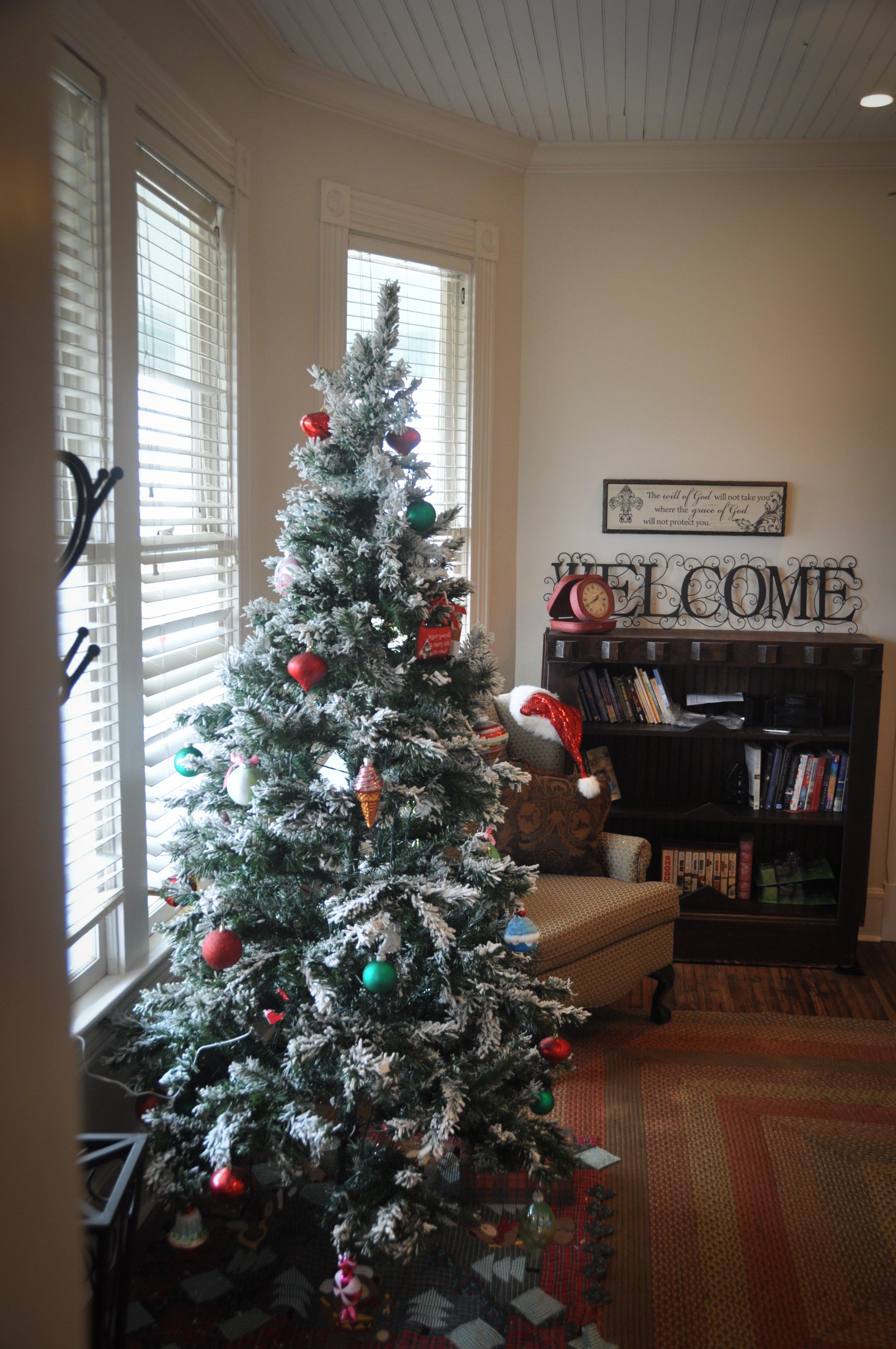 Living area with Christmas Tree