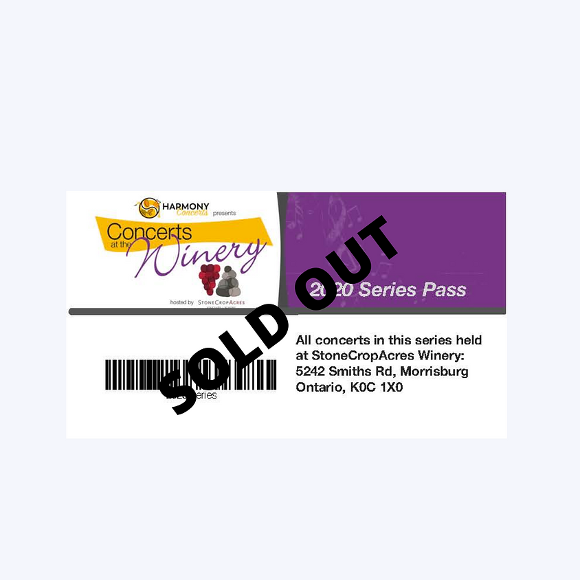 2020 Concerts at the Winery Series Pass