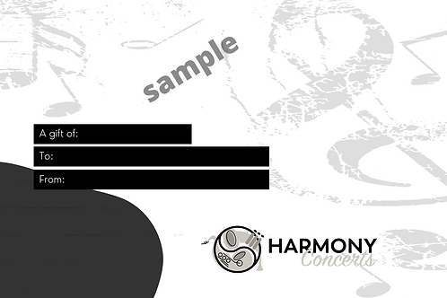 Harmony Concerts Gift Certificate
