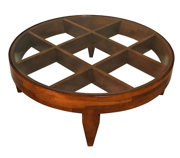 Gio Ponti Important Italian Modern Walnut and Glass Low Table