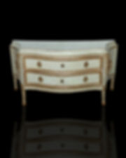 Important Italian Neoclassic Painted and Parcel-Gilt Commode