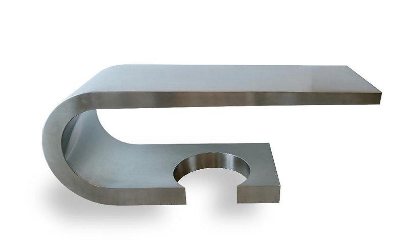 Marzio Cecchi A Rare Marzio Cecchi Stainless Steel Desk/Console