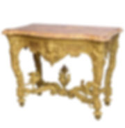Fine Regence or Early Louis XV Giltwood and Marble-Top Console Table