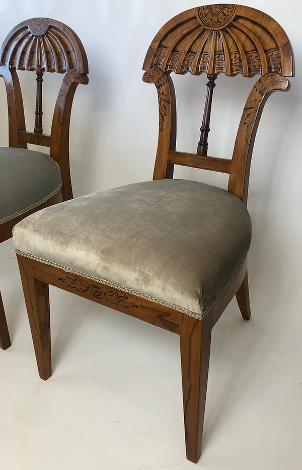 Josef Danhauser A Superb Set of Ten Viennese Biedermeier Dining/ Side Chairs, Josef Danhauser