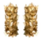 Venini -Paolo Venini Set of 4 Monumental Gold Glass Butterfly Wall Lights, Venini