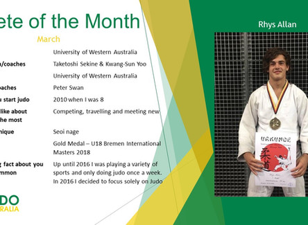 Athlete Of the Month