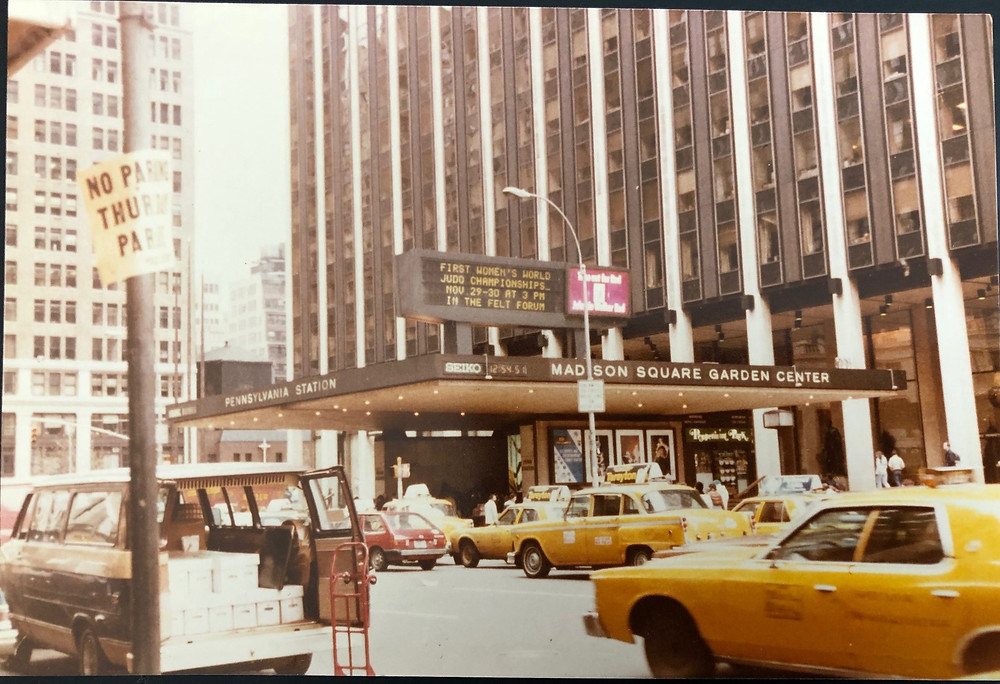 Madison Square Garden with the signage announcing the championships