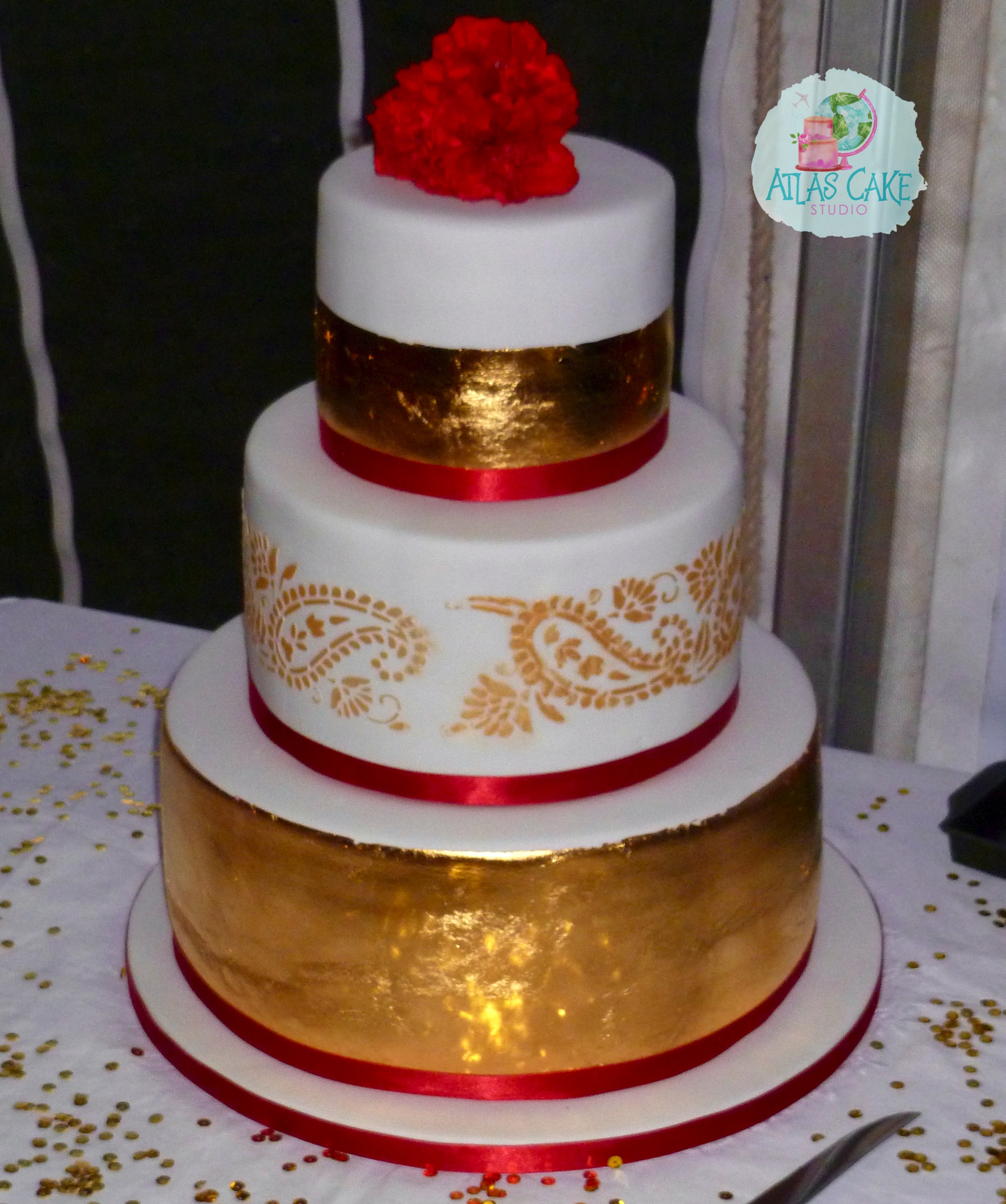 Gold Paisley Wedding