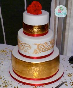 Gold Paisley Wedding