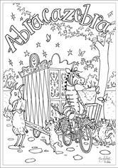 Abracazebra Colouring Sheet