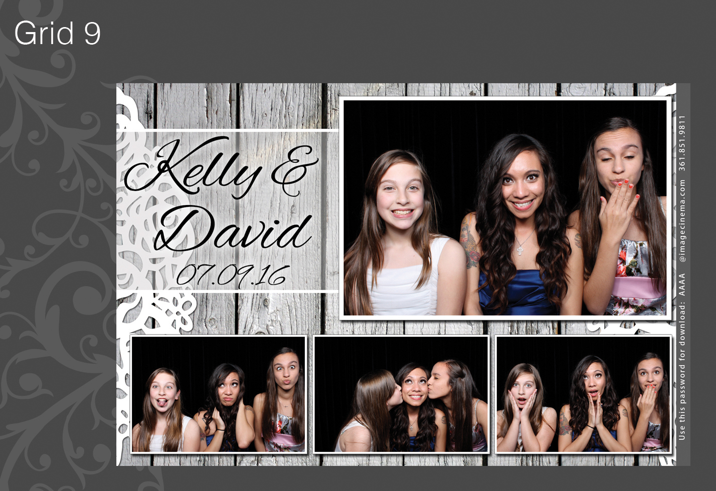 Photo Booth Grid 9