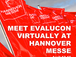 Meet E-valucon virtually at Hannover Messe: April 12-16