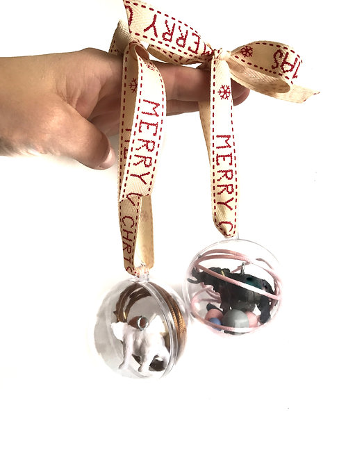 Xmas - DIY animal necklace bauble