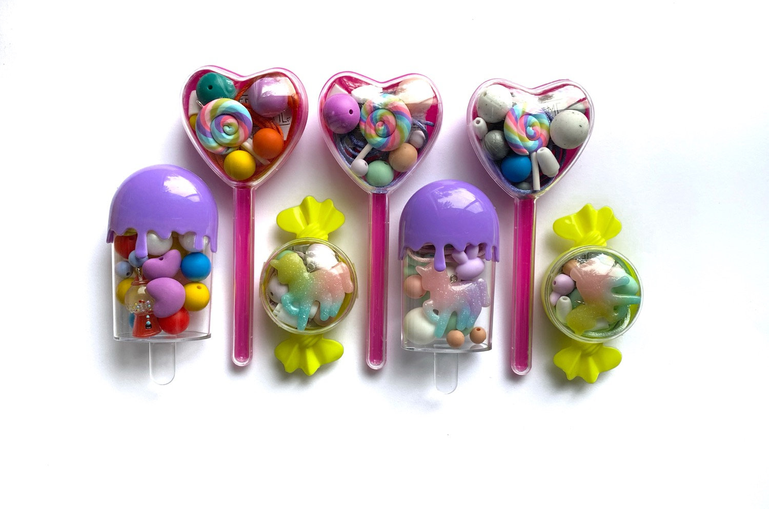 Thumbnail: Lollipop love heart DIY jewellery kit
