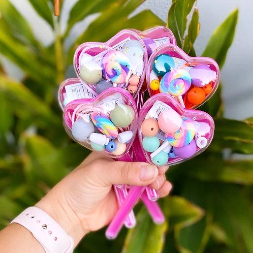 Lollipop love heart DIY jewellery kit