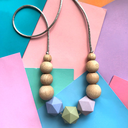 Silicone and Wood Necklace - Parker