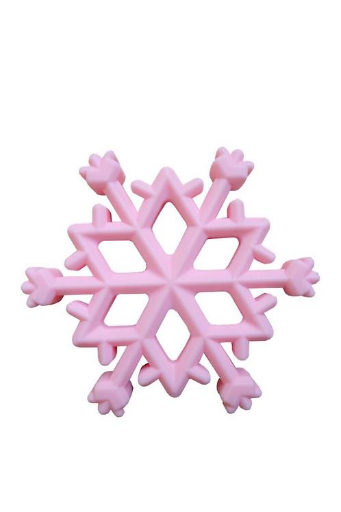 Snowflake Teether - Pink