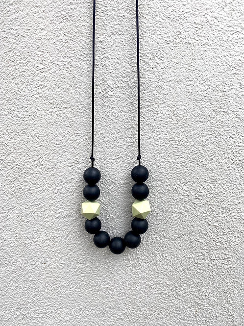 Silicone Necklace - Back and Pistachio