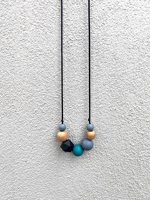 Silicone Necklace - Back and peacock