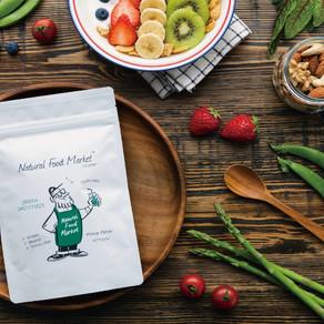 Natural Food Market グリームスムージーパッケージイラスト