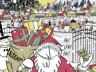 クリスマスのイラストを描きました