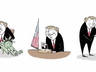 トランプ大統領のイラストを描きました。