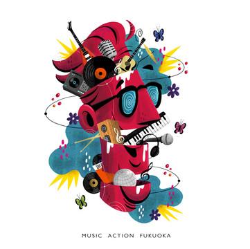 MUSIC ACTION FUKUOKA エコバッグイラスト
