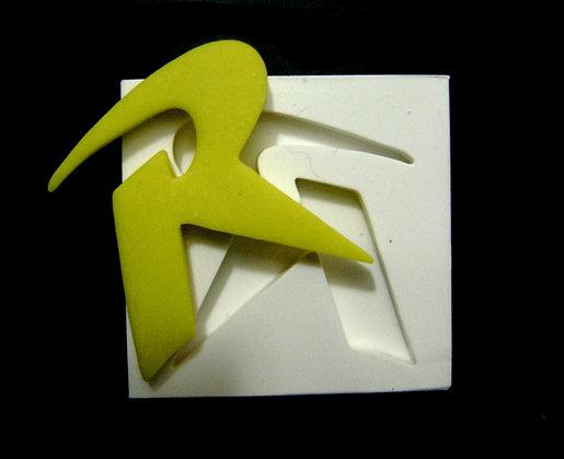 SÍMBOLO ROBIM - MOLDE DE SILICONE BRANCO