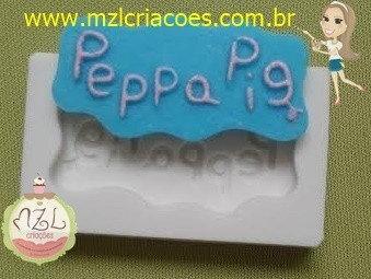 LOGO PEPPA - MOLDE DE SILICONE BRANCO