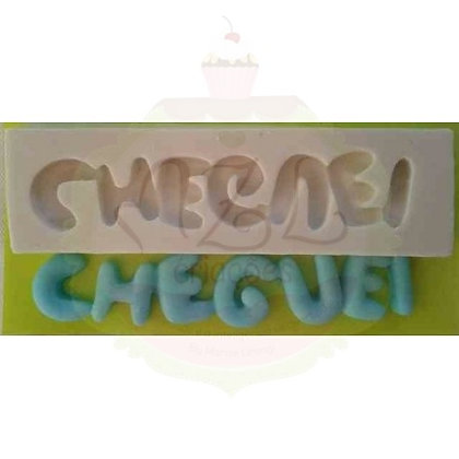 CHEGUEI - MOLDE DE SILICONE BRANCO