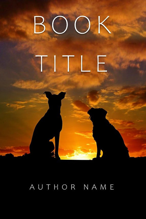 E-Book Cover - Dogs at sunset