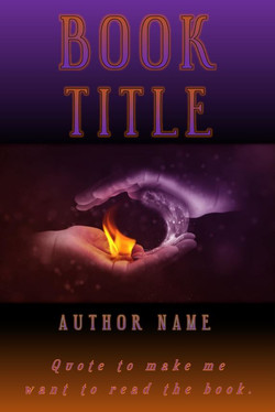 Pre-made book cover fire and ice hands