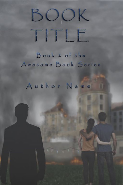 E-Book Cover - Couple by burning building
