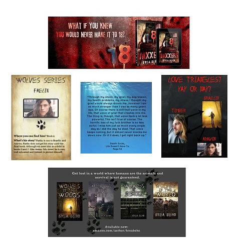 Book Launch Marketing Material Bundle