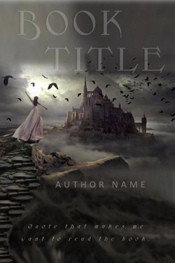 woman castle and crows pre-made book cover