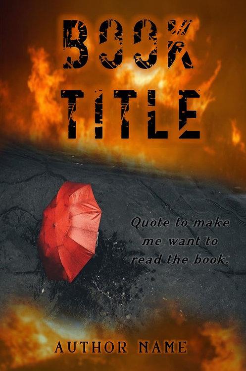 E-Book Cover - Fire and umbrella