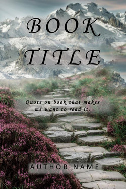 Pre-made book cover of stone steps leading to mountains