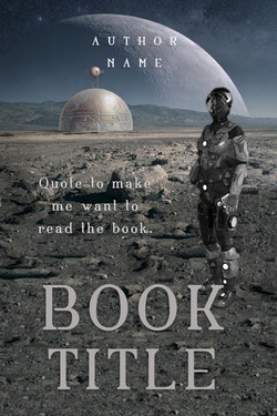 Pre-made book cover science fiction