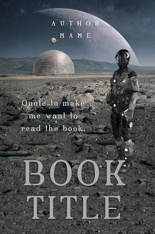 E-Book Cover - Sci-fi soldier