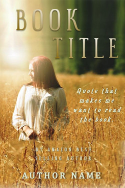 Pre-made book cover woman in a field