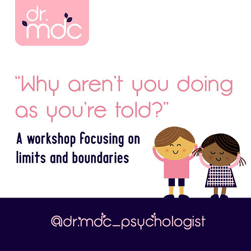 Why aren't you doing as you're told? Dr MDC Workshop  - RECORDING