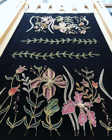 刺繍巾着 ✴︎_刺繍部分完成✨_-_-_オーダー品_-_✴︎_-_-_-_#sw
