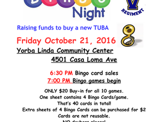 Bingo for Booster Club of Valencia HS Band