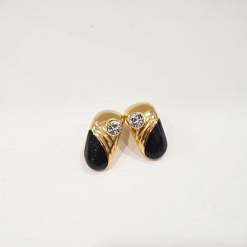 Orecchino gold tone e black