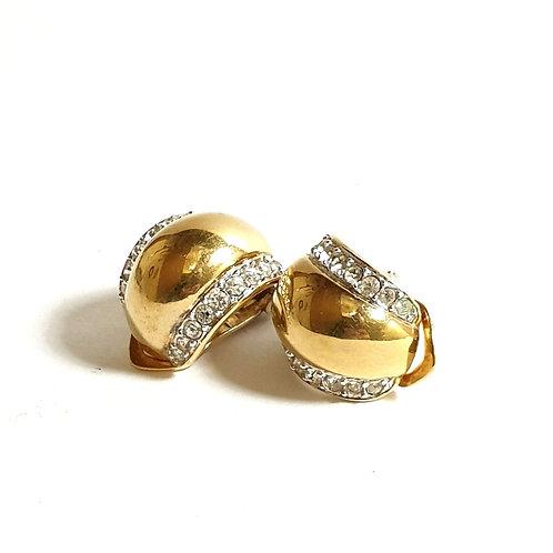 ORECCHINO GOLD TONE E CRISTALLI