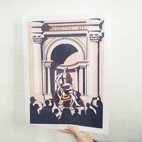 "STAMPA A3 ""FONTANA DI TREVI, ROMA"""