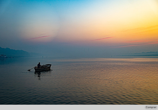 Fine Art Cor #051.   Ganga River.  India