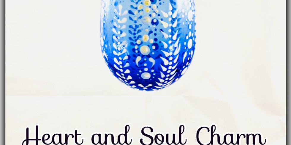 Snowflake Dot Mandala Wine Glass Paint Night